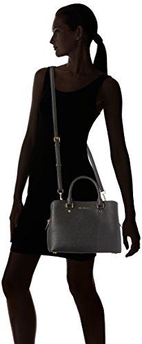 Michael Kors - Savannah Medium Saffiano Leather Satchel, Borsa a tracolla Donna Black (Nero)