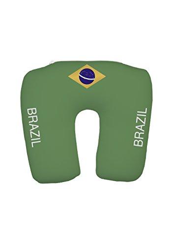 travelstar TS-F-1003 2-in-1 EM Fanartikel Trikot-Nackenkissen Brasilien, Football-Shirt Neck Pillow Brazi