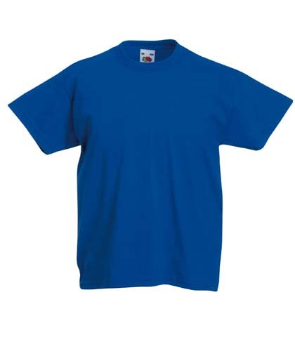 Fruit of the Loom Childrens T Shirt in Royal Size 12-13 (SS6B)