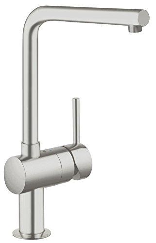 Preisvergleich Produktbild GROHE Minta Küchenarmatur, Schwenkbegrenzung 0°/150°/360°, SuperSteel, L-Auslauf 31375DC0