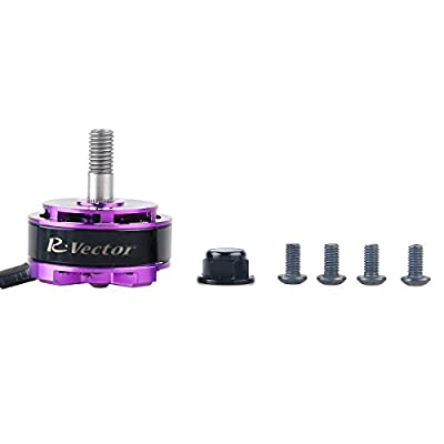 4PCS RV2205 2300KV RC Brushless Motor For FPV Racing Drones Multirotor Quadcopter 2CW 2CCW in Purple AOKFLY