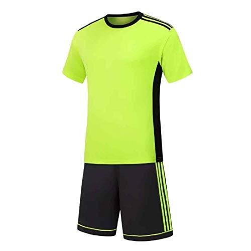 MUCHAO Herren Fußball Fußball Sport Schiedsrichter Wettbewerb Trainingsanzug Hemd Uniform Jersey Kostüm Kurze Ärmel und für Sport Shorts (Schiedsrichter Kostüm Damen)