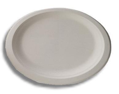 50 assiettes rondes biodegradables en canne sucre 23 cm