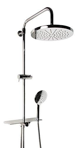 Wellness Duschsystem Taja   Dusche   Duschbrause   Regenbrause   Duschset   3 Strahlarten   Antikalk-Funktion   Chrom