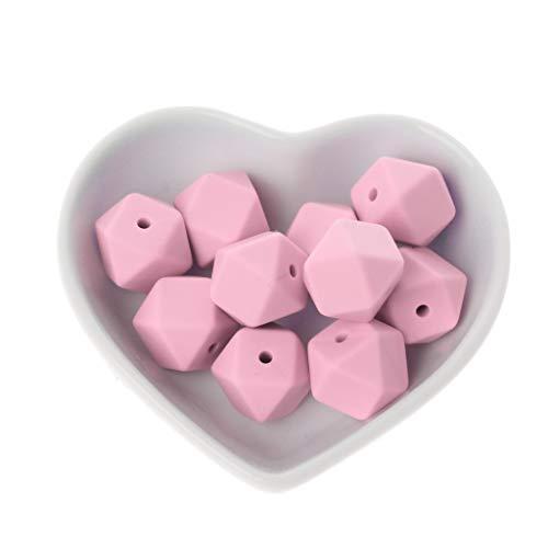 10pcs Silikon Perlen Baby Kinderkrankheiten Beißring Bead Baby Spielzeug DIY Schnuller Zubehör