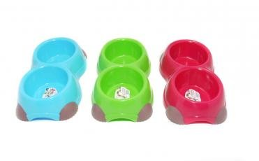 Pet Brands Double Retro Cat/Dog Feeding Bowl, 350 ml 1