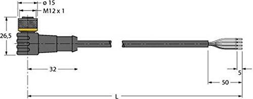 Turck Anschlussleitung WKC4.4T-P7X2-5/TXL PUR Konfektioniertes Sensor-Aktor-Kabel 4047101272390