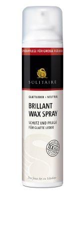 Preisvergleich Produktbild Schützendes Pflegespray - Solitaire Brillant Wax Spray - Schutz, Pflege, Imprägnierung und Farbauffrischung für glatte Leder - von Solitaire - 300 ml