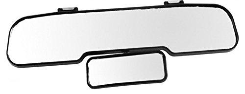 Preisvergleich Produktbild Great Ideas Auto Rückspiegel, doppelt, weiter Winkel, leicht anzubringen und zu entfernen, Rücksitz immer im Blick, verstellbar, 30cm breit