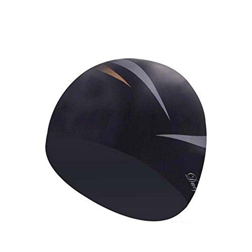 Black Temptation Professionelle spezielle Silikon-Schwimmen-Kappe ungiftige Silikon-weiche Schwimmen-Kappe, A 9