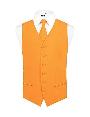 Costumes De Luxe Pour Homme Halloween - Gilet Homme Orange Coucher De