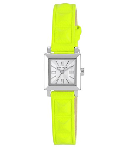 vince-camuto-womens-quartz-watch-with-silver-dial-analogue-display-and-yellow-leather-strap-vc-5069s