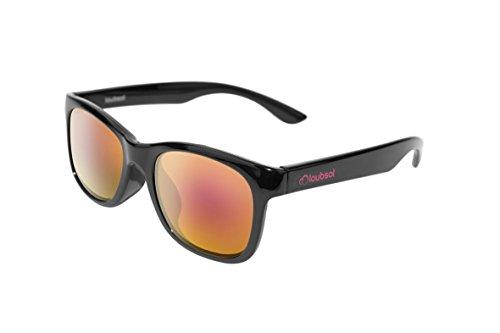 Loubsol Neda Sonnenbrille Kinder Jungen, schwarz, 10-14Jahre
