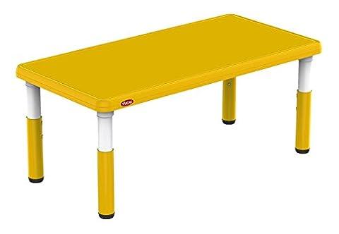 Bieco 04000121 - Kindertisch gelb, höhenverstellbar, Tischplatte ca. 120 x