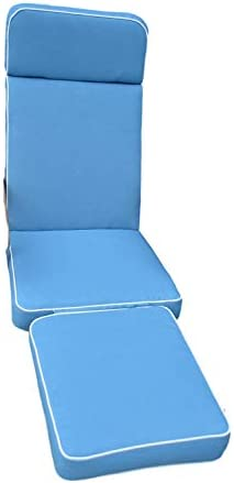 Chaise longue de de de jardin avec coussin à rembourrage de première qualité et tissu uniquement-Coussin-blu clair B00BB0BODK Parent | Conosciuto per la sua eccellente qualità  | Vendita  | Apparenza Estetica  fb8bbf