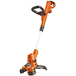 Black and Decker ST5528-QS - Cortabordes, ancho de corte 28 cm, 550 W, color naranja y negro