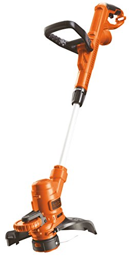 Black+Decker ST5528-QS - Cortabordes, ancho de corte 28 cm, 550 W, color naranja y negro