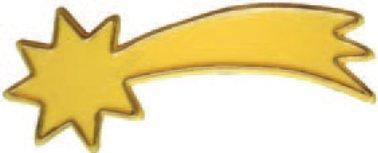 Komet Stern gelb für Krippe Weihnachtskrippe Krippenstall Krippenzubehör mit Beleuchtung 3,5 V