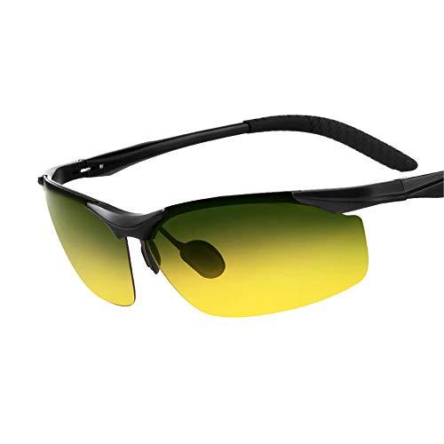 ZCF Sonnenbrillen Männer Tag und Nacht polarisierten Sonnenbrillen Fahrer Brille Fahren Angeln Augen Nachtsicht Fahren Flut Bewegung (Edition : A)
