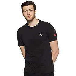 Levi's Men's Printed Regular Fit T-Shirt (39687-0016_Black_M)