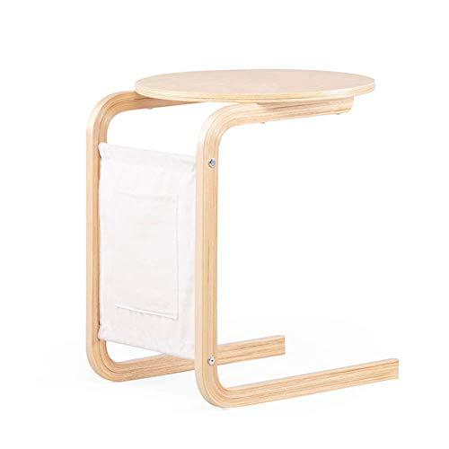 Kleine Birke aus massivem Massivholz, kleine Seite, mobiler Balkon, Couchtisch, Nachttisch (Color : Wood, Size : 50 * 44.5 * 57CM) -