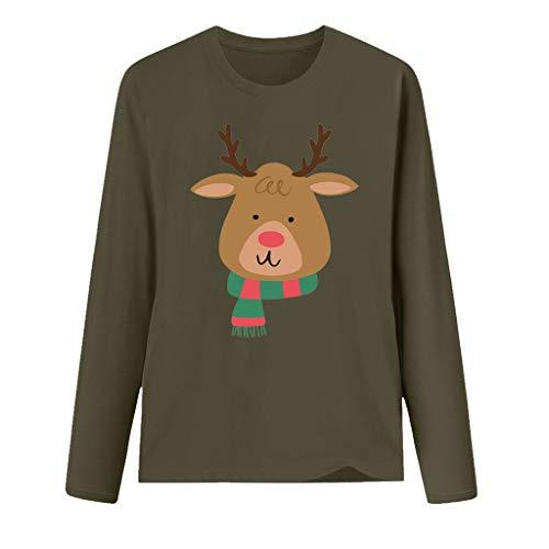 Damen Print O Neck T-Shirt Damen Mode Lässig O Neck Langarm Pullover Lose Street Bluse Tops