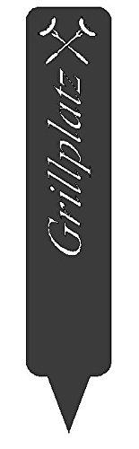 Schild, Hinweisschild, Gartenschild (Grillplatz Anthrazit)