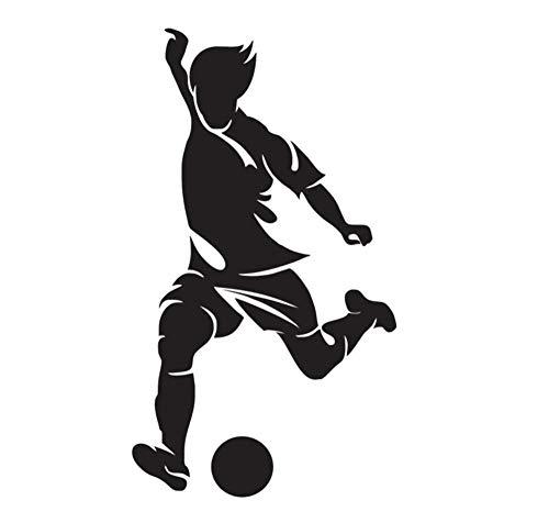 mmer Wandaufkleber Schlafzimmer Wandaufkleber Diy Abnehmbare Teenager Football Player Raumdekoration Wandaufkleber Malerei ()
