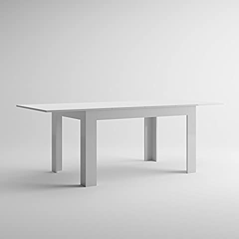 EXTENDABLE PULL-OUT DINING TABLE HIGH - GLOSS WHITE EASY
