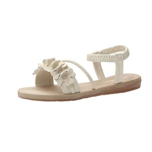 ✿✿Eaylis Damen Sandalen Flache RöMische Sandalen Und Gewebte Sohlen