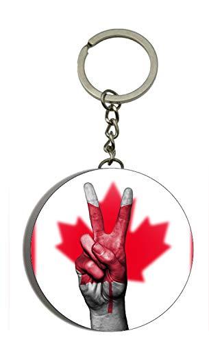 Gifts & Gadgets Co. Schlüsselanhänger mit Flaschenöffner, Motiv Kanada-Flagge, 58 mm