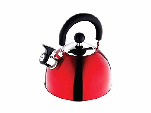 Renberg Induction Base Stainless Steel Whistling Kettle, 2.25 Ltr, 1 Piece (Red)