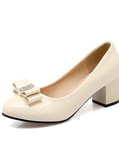 WSS 2016 Chaussures Femme-Bureau & Travail / Décontracté-Noir / Bleu / Rose / Beige-Gros Talon-Talons / Confort / Bout Pointu-Talons-Cuir Verni / blue-us6 / eu36 / uk4 / cn36