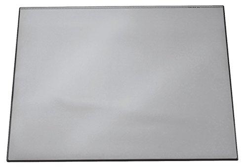 Schreibunterlage Grau (Durable 720310 Schreibtischunterlage (mit transparentem Overlay, 650 x 520 mm) 1 Stück, grau)