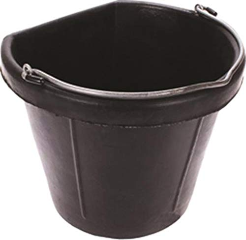 Fortex Industries Inc Flat Back Bucket Wirtschaft Fb-1-Black 20 Quart - FB-1 BLACK