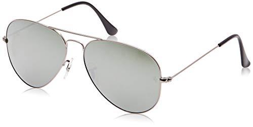 Ray-ban aviator, occhiali da sole unisex adulto, argento (silber 029/30), 55 mm