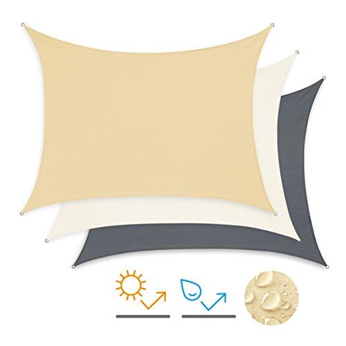 Minuma Sonnensegel | Wetterschutz | Windschutz | Sonnenschutz| wasserfest aus Polyester mit...