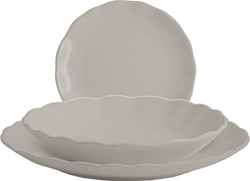 H&H 18 Pezzi Ceramica Rebecca Grigio 144 Arredo Tavola