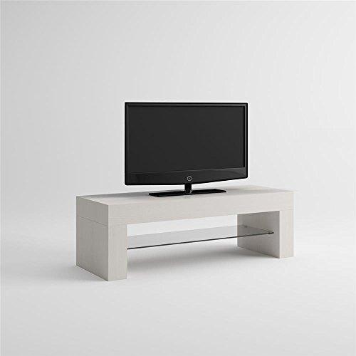 Mobilifiver evo mobile porta tv, legno, bianco frassino, 112x40x36 cm