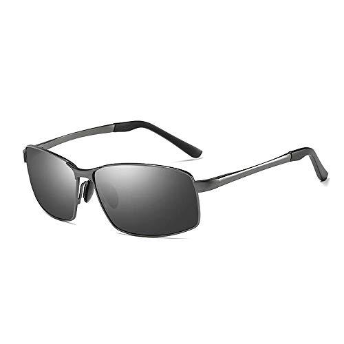 Easy Go Shopping UV-Schnitt UV-Schnitt Angeln Sport Tennis Sonnenbrillen Herren polarisierte Gläser Fahren leicht Sonnenbrillen und Flacher Spiegel (Color : 01 Schwarz, Size : Kostenlos)