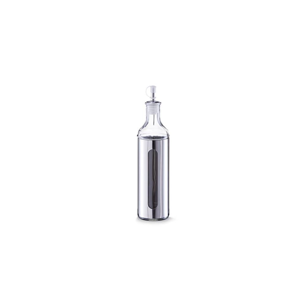 Zeller 19949 Essig Lflasche Glas Edelstahl Ca 65 X 65 X 28 Cm