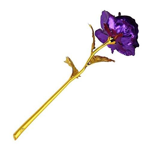 AWJ06 Rose mit 24 Karat vergoldetem Blattgold, Hochzeitszubehör, Valentinstag, Geburtstag, Neujahr, Dekoration, Blumen, Ihre Frau, Liebe, 1 Stück - Schnee Momente Kostbare