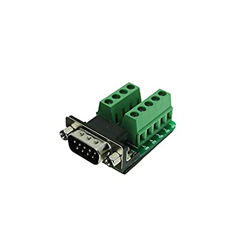 VIKINS Connector Db9 D-sub Male Plug 9-pin Port 2 Row Terminal Breakout PCB Board