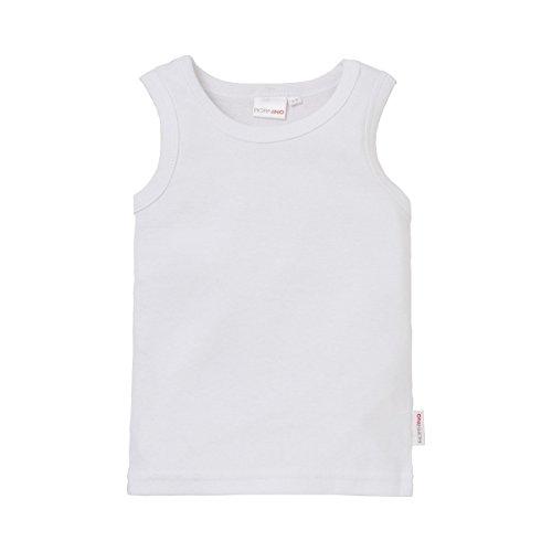 Bornino Basics Unterhemd/Hemdchen/Unterwäsche - Farbe: einfarbig weiß, ohne Arm, Baumwolle, Öko-Tex Zertifiziert - Baby Bekleidung für Jungen/Mädchen/Unisex -