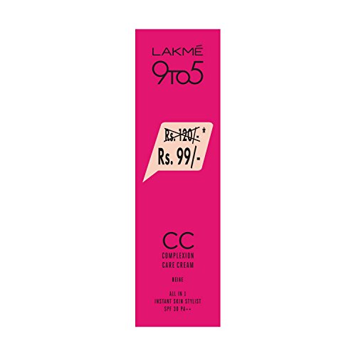 Lakme 9 to 5 Complexion Care Cream, Beige, 9ml (Now...
