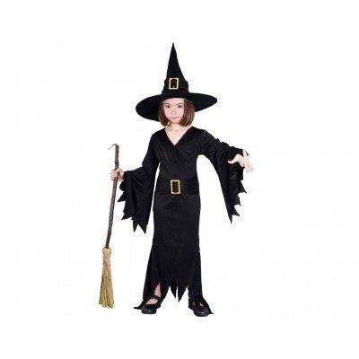 Imagen de disfraz de bruja negro para niña