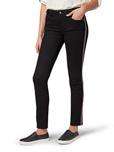TOM TAILOR Casual Damen Slim Jeans Gewaschene, Denim fit Alexa, Schwarz (Black 10240), W31/L32