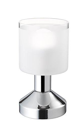Tischleuchte Nickel matt, Glas frosty