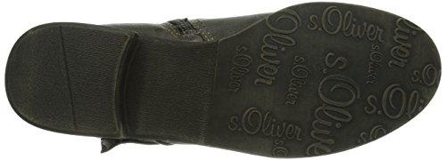 s.Oliver 25312 Damen Biker Boots Grau (GRAPHITE/CAFE 221)