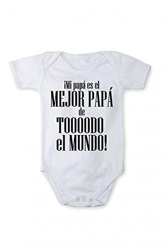 Body mameluco con estampado ¡Mi papà es el MEJOR PAPÁ en diferentes  idiomas cc3c8c3fa3f
